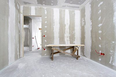 drywall contractors  work meticulous   project